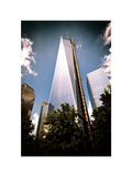 One World Trade Center (1WTC), Manhattan, New York, White Frame, Vintage Colors Photographic Print by Philippe Hugonnard