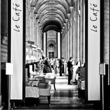 Modern Brewery, Cafe Marly, the Louvre Museum, Glass Pyramids, Paris, France Photographic Print by Philippe Hugonnard