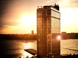 Landscape Sunset Building, Meatpacking District, Chelsea, Hudson River, Manhattan, New York Photographic Print by Philippe Hugonnard