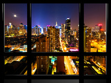 Window View, Special Series, Landscape, Manhattan by Night, Times Square, New York City, US Reproduction photographique par Philippe Hugonnard