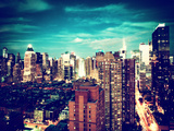 Landscape View of Times Square, Skyscrapers View, Midtown Manhattan, NYC, NYC Photographic Print by Philippe Hugonnard