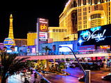 Landscape, Las Vegas by Night, Nevada, United States, USA Photographic Print by Philippe Hugonnard