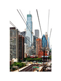 Roosevelt Island Tram Station (Manhattan Side), Manhattan, New York, White Frame Photographic Print by Philippe Hugonnard
