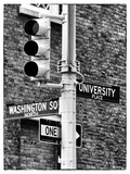 Directional Signs and Traffic Lights, Greenwich Village, Historic District, Manhattan, New York Photographic Print by Philippe Hugonnard