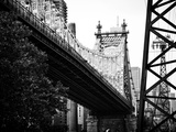 Ed Koch Queensboro Bridge (Queensbridge) View, Manhattan, New York, Black and White Photography Photographic Print by Philippe Hugonnard