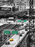 "Road Traffic on ""59th Street Bridge"" (Queensboro Bridge), Manhattan Downtown, NYC Photographic Print by Philippe Hugonnard"