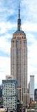 Vertical Panoramic, Empire State Building, Manhattan, New York -United States Photographic Print by Philippe Hugonnard