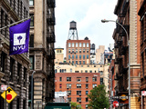 Architecture and Buildings, Greenwich Village, Nyu Flag, Manhattan, New York City, United States Photographic Print by Philippe Hugonnard