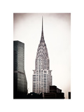 The Chrysler Building, Art Deco Style Skyscraper in NYC, Turtle Bay, Manhattan, US, White Frame Photographic Print by Philippe Hugonnard