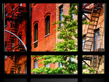 Window View, Special Series, Buildings, Stairs, Emergency, New York, United States Photographic Print by Philippe Hugonnard