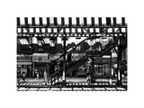 Subway Station, Williamsburg, Brooklyn, New York, White Frame, Full Size Photography Photographic Print by Philippe Hugonnard