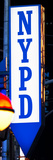 Nypd Police Dept Sign, Times Square, Manhattan, New York City, USA Photographic Print by Philippe Hugonnard