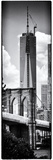 Vertical Panoramic View of Brooklyn Bridge View and One World Trade Center, Manhattan, NYC Photographic Print by Philippe Hugonnard