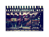Subway Station, Williamsburg, Brooklyn, New York, US, White Frame, Full Size Photography, Vintage Photographic Print by Philippe Hugonnard