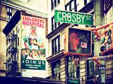 "Urban Scene, Wall Advertising ""Childrens Hospital"", Crosby Street, Broadway, Manhattan, NYC Photographic Print by Philippe Hugonnard"