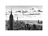 Skyline with the Empire State Building and the One World Trade Center, Manhattan, NYC, White Frame Photographic Print by Philippe Hugonnard