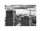 Skyline Manhattan Buildings with One World Trade Center, NYC, White Frame, Full Size Photography Photographic Print by Philippe Hugonnard