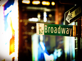 Urban Sign, Broadway Sign at Times Square by Night, Manhattan, New York, United States, USA Photographic Print by Philippe Hugonnard