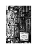 Stairways, Fire Escapes, White Frame, Street Times Square, Manhattan, New York Photographic Print by Philippe Hugonnard