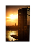 Sunset Building, Meatpacking District, Chelsea, Hudson River, Manhattan, New York, White Frame Photographic Print by Philippe Hugonnard