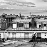 Cube Rooftops View, Black and White Photography, Sacre-Cœur Basilica, Paris, France Photographic Print by Philippe Hugonnard