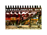 Subway Station, Williamsburg, Brooklyn, New York, United States, White Frame, Full Size Photography Photographic Print by Philippe Hugonnard