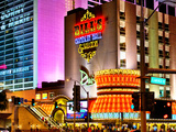 Jackpot Sign, Flamingo Rd, Bill's Casino, Las Vegas, Nevada, United States Photographic Print by Philippe Hugonnard