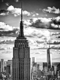Cityscape Skyscraper, Empire State Building and One World Trade Center, Manhattan, NYC Photographic Print by Philippe Hugonnard