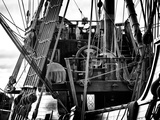 Close-Up Inside the El Galeon, Authentic Replica of 17th Century Spanish Galleon, Pier 84, New York Photographic Print by Philippe Hugonnard