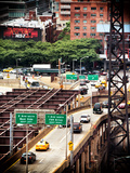 "Road Traffic on ""59th Street Bridge"" (Queensboro Bridge), Manhattan Downtown, New York City, US Photographic Print by Philippe Hugonnard"
