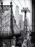 Roosevelt Island Tram and Ed Koch Queensboro Bridge (Queensbridge) Views, Manhattan, New York Photographic Print by Philippe Hugonnard