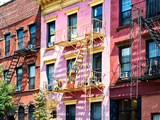 Colorful Buildings with Fire Escape, Williamsburg, Brooklyn, New York, United States Photographic Print by Philippe Hugonnard