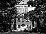 Church, Historic Philadelphia Center, Philadelphia, Pennsylvania, US, Black and White Photography Photographic Print by Philippe Hugonnard