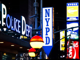 Nypd Police Dept, Times Square, Manhattan, New York City, USA Photographic Print by Philippe Hugonnard
