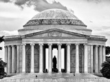 The Thomas Jefferson Memorial, Washington D.C, District of Columbia, Black and White Photography Photographic Print by Philippe Hugonnard