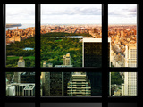 Window View, Special Series, Central Park, Sunset, Manhattan, New York City, United States Photographic Print by Philippe Hugonnard