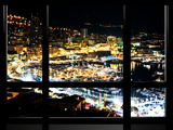 Window View, Special Series, Principaute De Monaco by Night, Monte-Carlo, Europe Photographic Print by Philippe Hugonnard