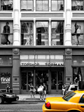 Urban Scene, Yellow Taxi, Topshop Store Front, Broadway, Soho, Manhattan, New York Colors Photographic Print by Philippe Hugonnard
