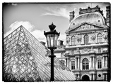 View of the Pyramid and the Louvre Museum Building, Paris, France, Europe Photographic Print by Philippe Hugonnard