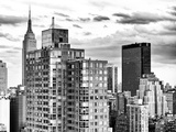 Landscape, Empire State Building and the Newyorker Hotel, Manhattan, New York Photographic Print by Philippe Hugonnard