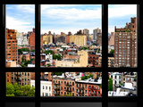 Window View, Special Series, Buildings of Chelsea, Meatpacking District, Manhattan, New York Photographic Print by Philippe Hugonnard