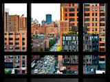 Window View, Special Series, Chelsea View at Sunset, Meatpacking District, Manhattan, New York, USA Photographic Print by Philippe Hugonnard