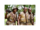 """The Three Soldiers"" Bronze by Frederik Hart at the Vietnam Memorial, Washington D.C, White Frame Photographic Print by Philippe Hugonnard"