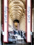 Urban Vibrations Series, Fine Art, Louvre, Café Marly, Paris, France Photographic Print by Philippe Hugonnard