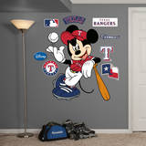 Mickey Mouse - Texas Rangers Wall Decal Wall Decal