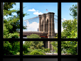 Window View, Special Series, the Brooklyn Bridge View, Manhattan, New York City, United States Photographic Print by Philippe Hugonnard