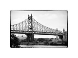 Ed Koch Queensboro Bridge (Queensbridge), Long Island City, New York Vintage, White Frame Photographic Print by Philippe Hugonnard