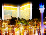 Urban Stretch Series, Fine Art, the Mirage View, Casino, Las Vegas, Nevada, United States Photographic Print by Philippe Hugonnard