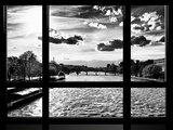 Window View, Special Series, Landscape View on Seine River and Eiffel Tower, Paris Photographic Print by Philippe Hugonnard