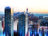 Urban Stretch Series, Fine Art, Manhattan Sunset View, New York, United States Photographic Print by Philippe Hugonnard